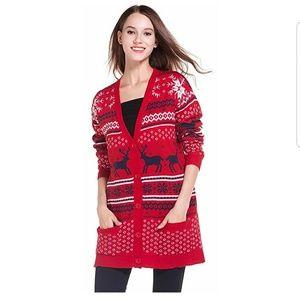 200c7ae7231 Womens Oversized Christmas Reindeer Cardigan